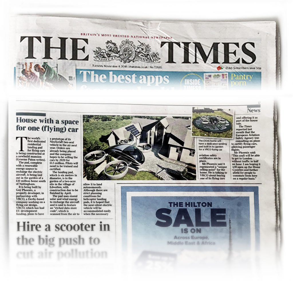 The Times: House with a space for one (flying) car